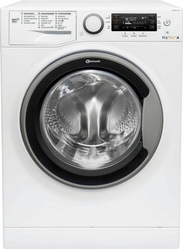 BAUKNECHT Waschtrockner, 11 kg/7 kg, 1600 U/Min