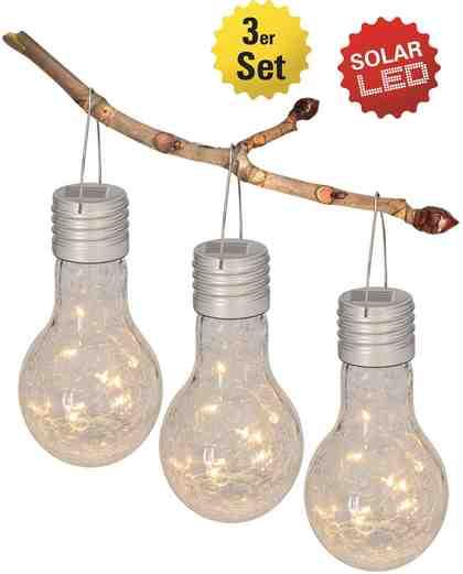 näve LED Gartenleuchte, 1-flammig, 3er-Set