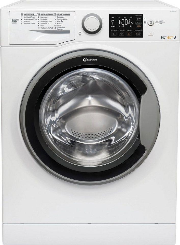 BAUKNECHT Waschtrockner WATK Sense 96G6, 9 kg/6 kg, 1600 U/Min