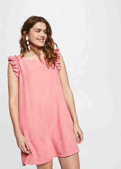 VIOLETA by Mango Soft-Kleid mit Volants