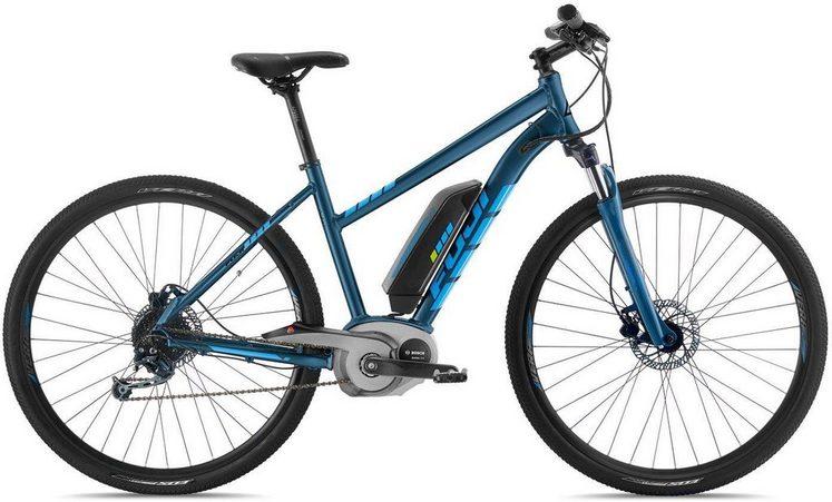 FUJI Bikes E-Bike »E-TRAVERSE CLASSIC ST«, 9 Gang Shimano Deore Schaltwerk, Kettenschaltung, Mittelmotor 250 W