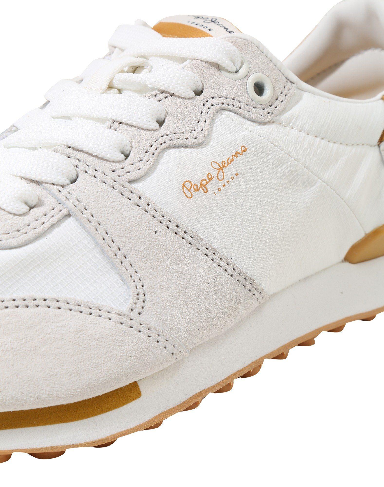 Pepe Jeans Bimba Basic Sneaker, Ziernaht kaufen  weiß