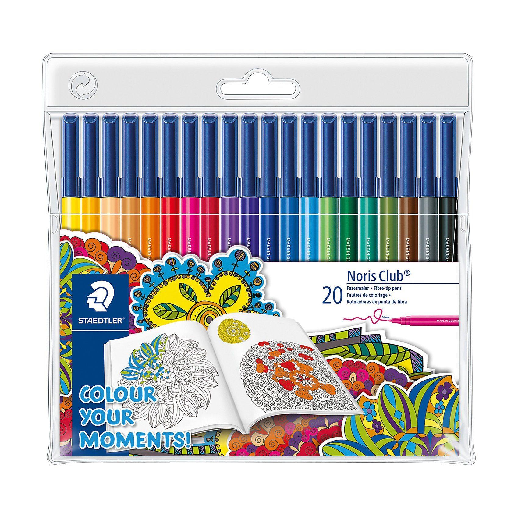 STAEDTLER Filzstifte adult colouring Design, 20 Farben