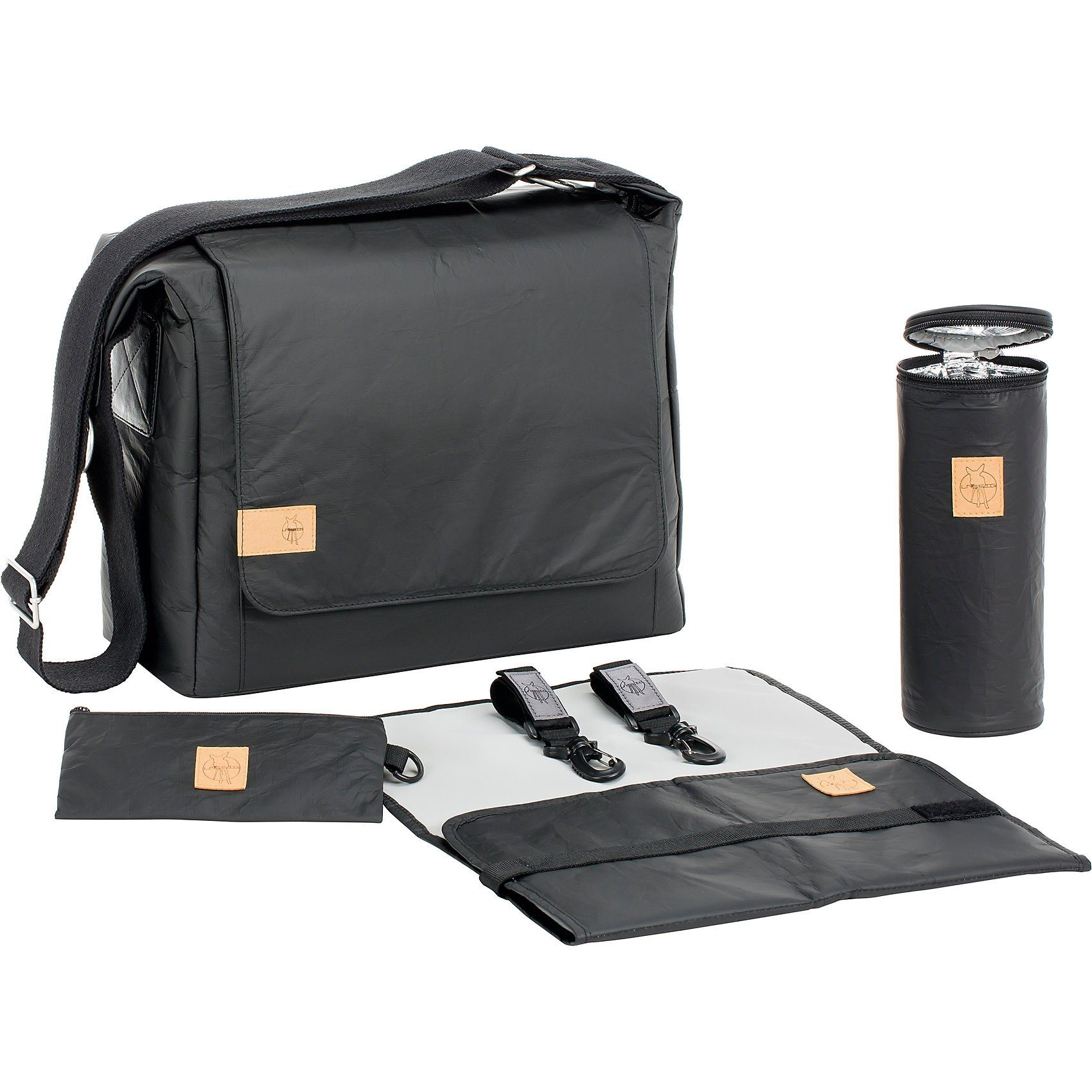 Lässig Wickeltasche Messenger Bag Tyve, Greenlabel, black