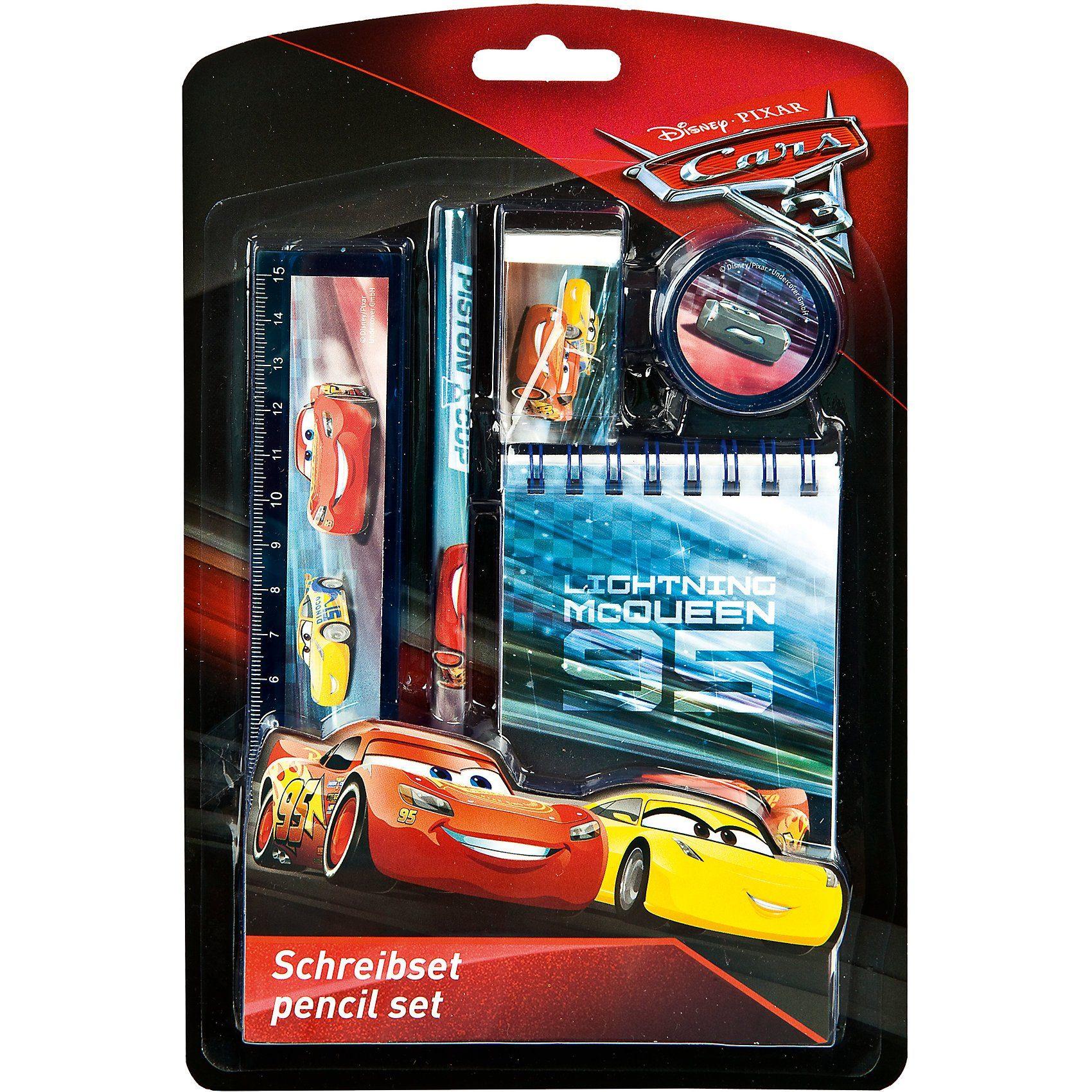 UNDERCOVER Schreibset Disney Cars, 5-tlg.
