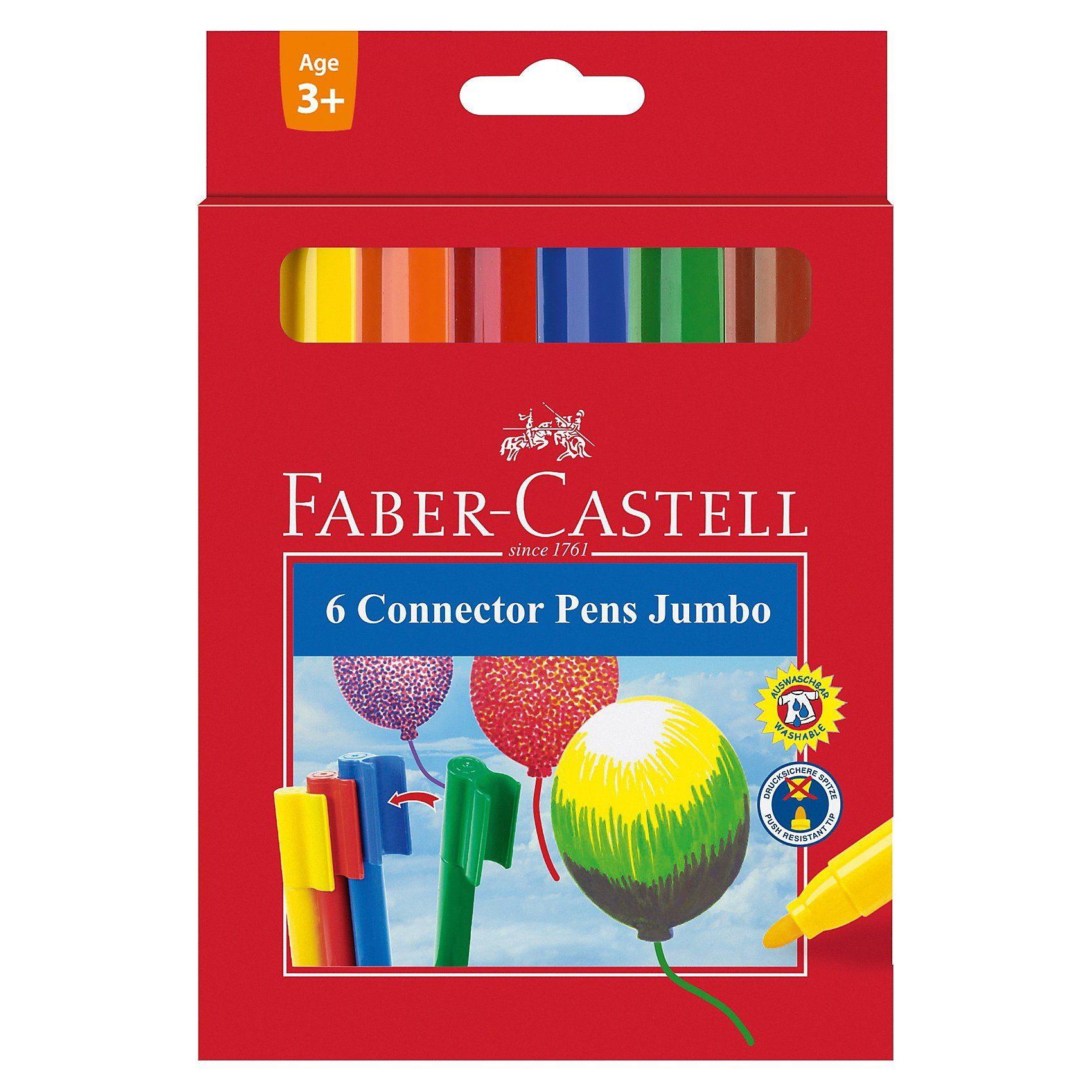 Faber-Castell Filzstift Jumbo CONNECTOR Pen 6er Etui