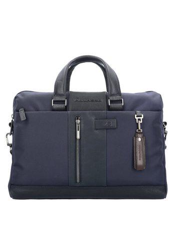 Damen Piquadro Brief Aktentasche 41 cm Laptopfach blau | 08024671473415