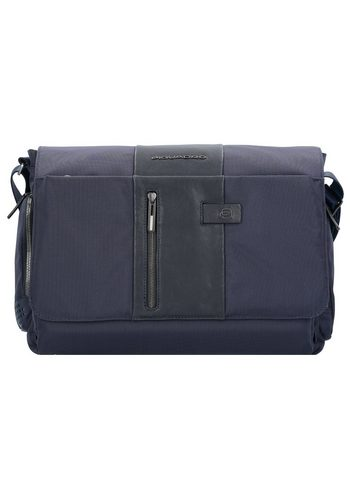 Damen Piquadro Brief Aktentasche 41 cm Laptopfach blau | 08024671473705