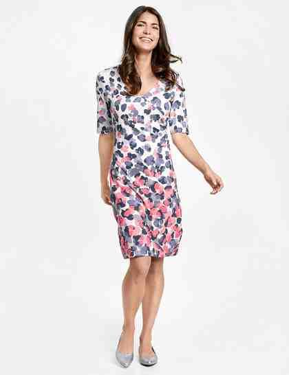 GERRY WEBER Kleid Gewirke »Kleid mit Wickeleffekt«