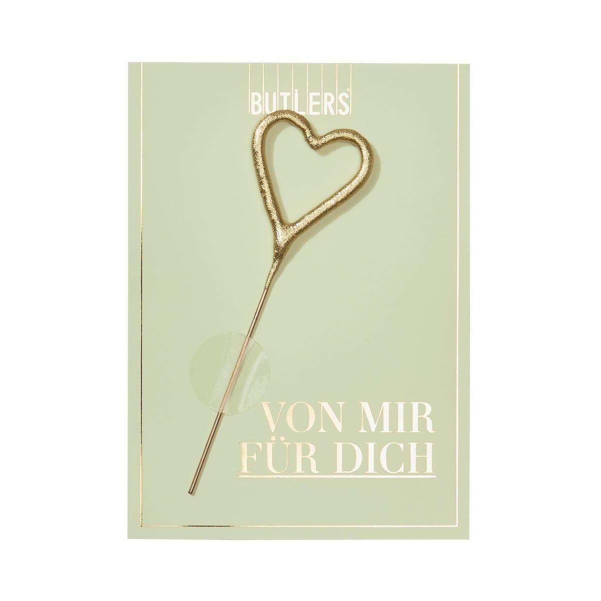 BUTLERS MAGIC MOMENTS »Mini-Grußkarte Von mir für Dich mit Wunderkerze«