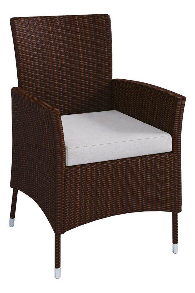 vcm rattan gartenstuhl braun online kaufen otto. Black Bedroom Furniture Sets. Home Design Ideas