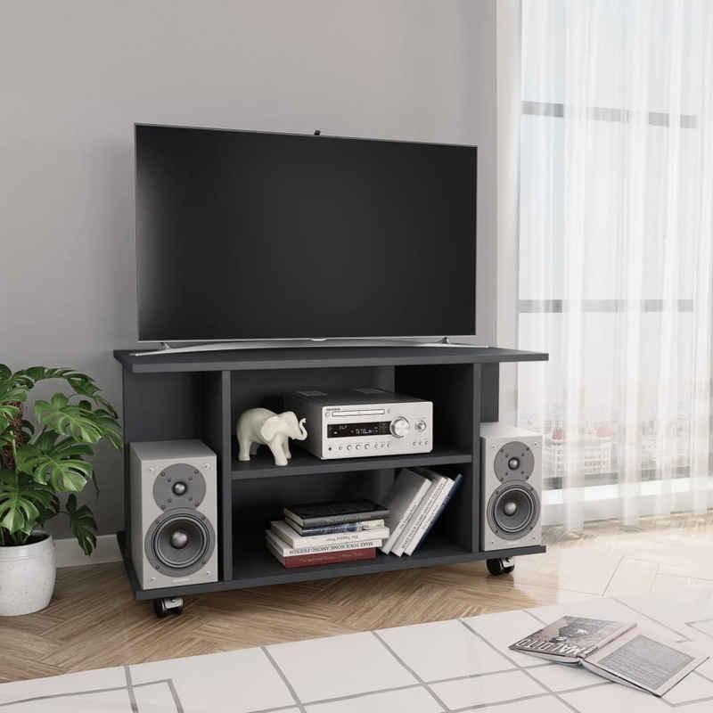 vidaXL TV-Schrank »vidaXL TV-Schrank mit Rollen Weiß 80×40×40 cm Spanplatte«
