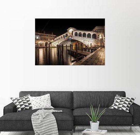 Posterlounge Wandbild - Melanie Viola »VENEDIG Rialtobrücke I«