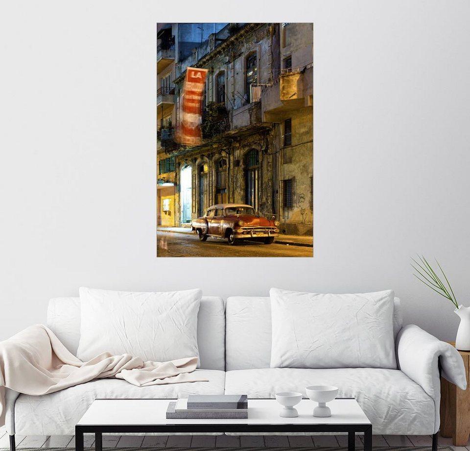 Posterlounge Wandbild - Lee Frost »Straßenszene in Havanna« online ...