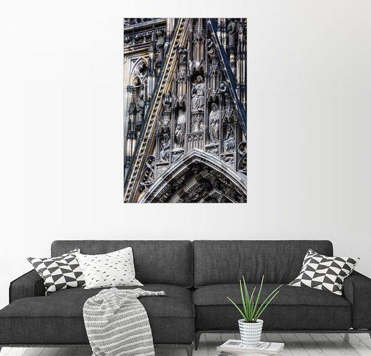 Posterlounge Wandbild »Fassaden Detail am Kölner Dom«