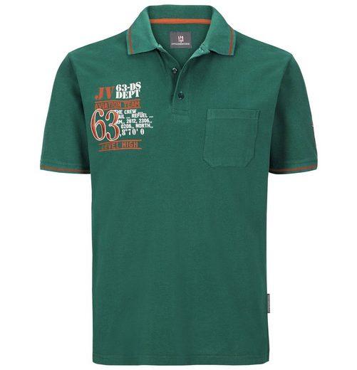 Jan Vanderstorm Poloshirt »INGAR« mit markanter Bruststickerei