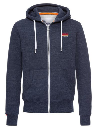 Superdry Kapuzensweatjacke »ORANGE LABEL CALI ZIPHOOD« Kapuze mit Tunnelzug