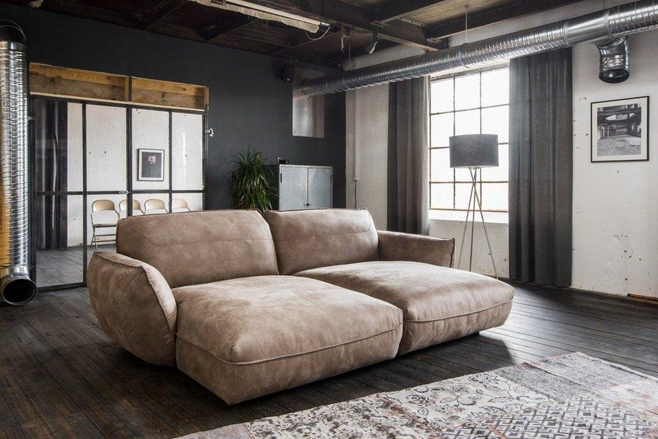 Kasper Wohndesign Big Sofa Longchair Stoff Braun Davito Online Kaufen Otto