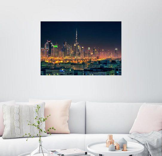 Posterlounge Wandbild - Stefan Becker »Dubai Skyline«
