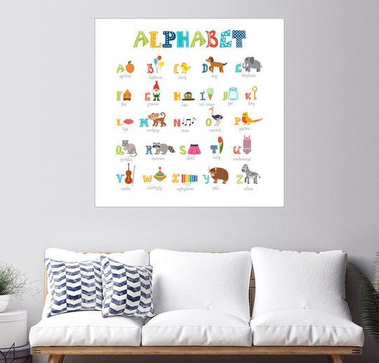 Posterlounge Wandbild - Typobox »Buntes Alphabet (Englisch)«