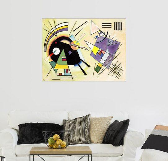 Posterlounge Wandbild - Wassily Kandinsky »Schwarz und violett«