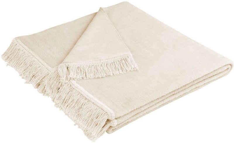 Sofaschoner »Cotton Cover« BIEDERLACK, mit Fransen versehen