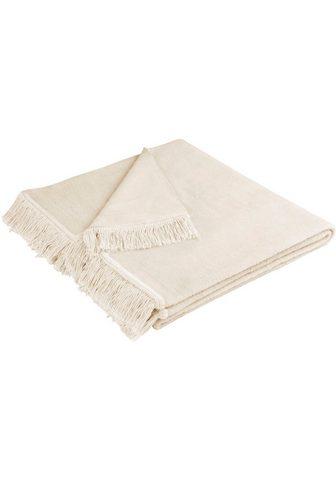 BIEDERLACK Sofaschoner »Cotton Cover« su Fransen ...