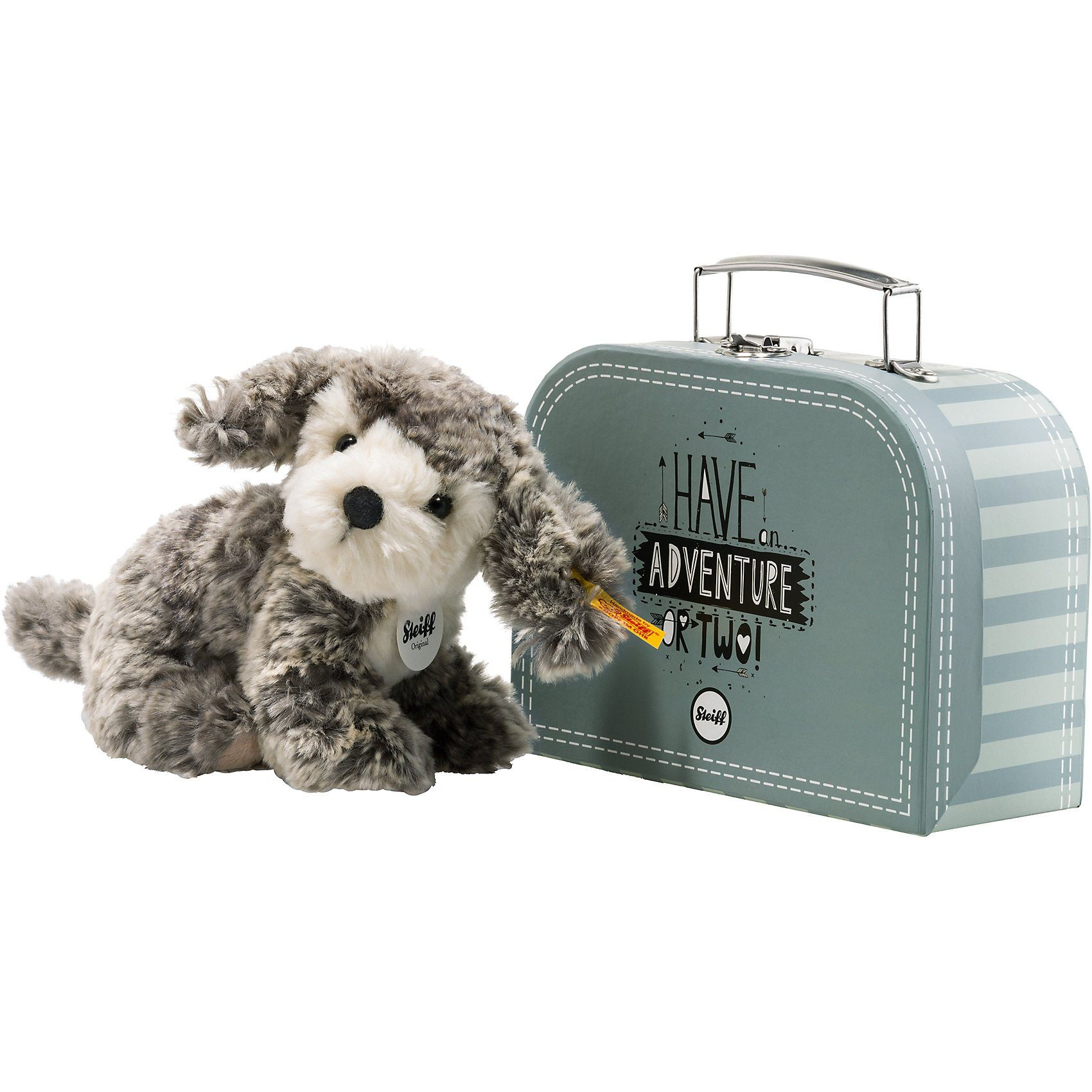 Steiff Matty Hund im Koffer