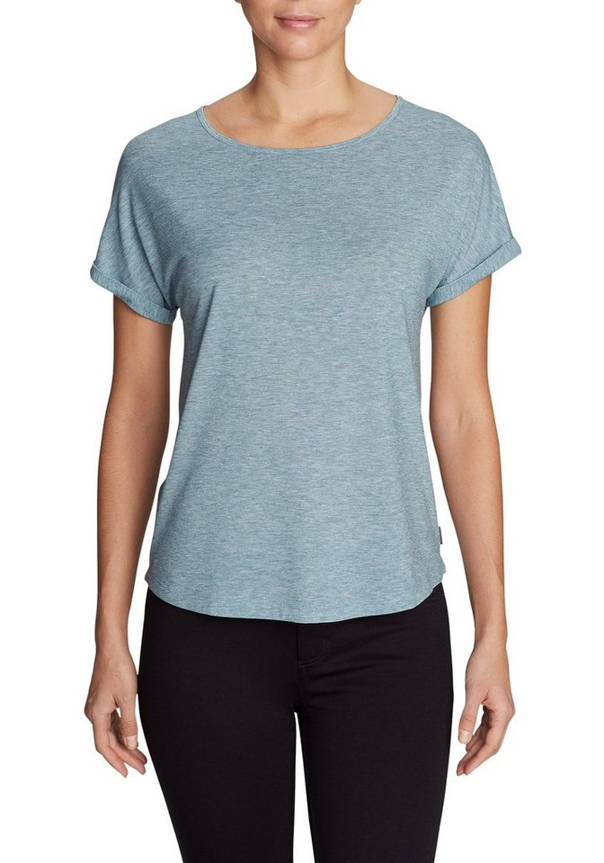 Damen Eddie Bauer  T-Shirt Mercer Bateau T-Shirt – Uni blau | 04057682289946