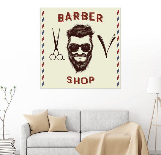 Posterlounge Wandbild »Barber Shop«