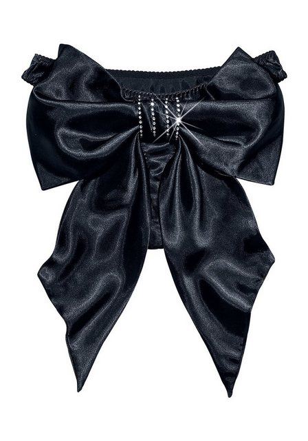 Damen Petite Fleur Gold String mit Satinschleife schwarz | 04893958325501
