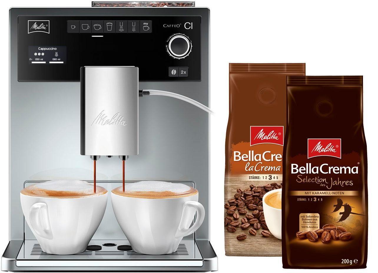 Melitta Kaffeevollautomat Caffeo® CI® E 970-306, mit Zweikammer-Bohnenbehälter