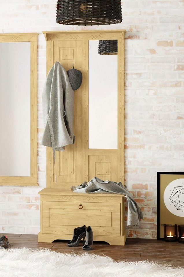 Garderoben Sets - Home affaire Kompaktgarderobe »Sofia« aus massiver Kiefer  - Onlineshop OTTO