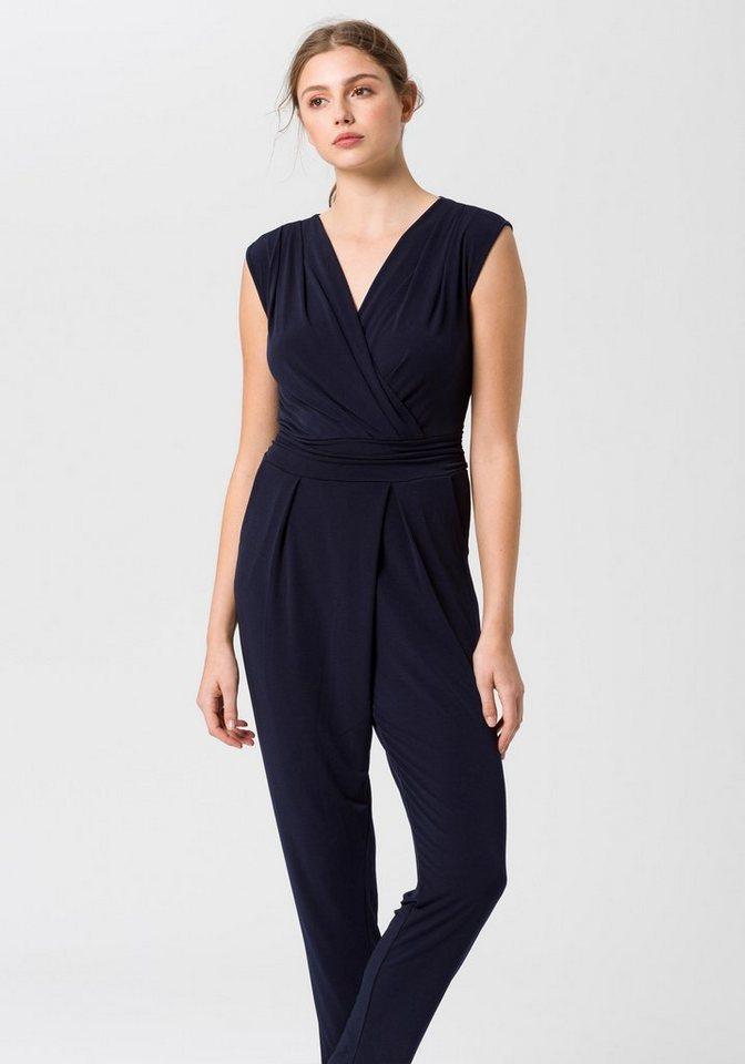 esprit collection jumpsuit mit tiefem v ausschnitt online kaufen otto. Black Bedroom Furniture Sets. Home Design Ideas