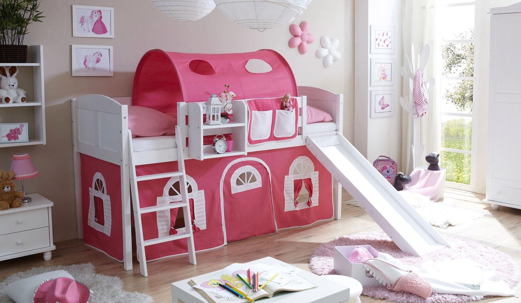 Etagenbett Weiss Mit Rutsche : Kinderzimmer hochbett wei und das mitwachsende kinderbett mit