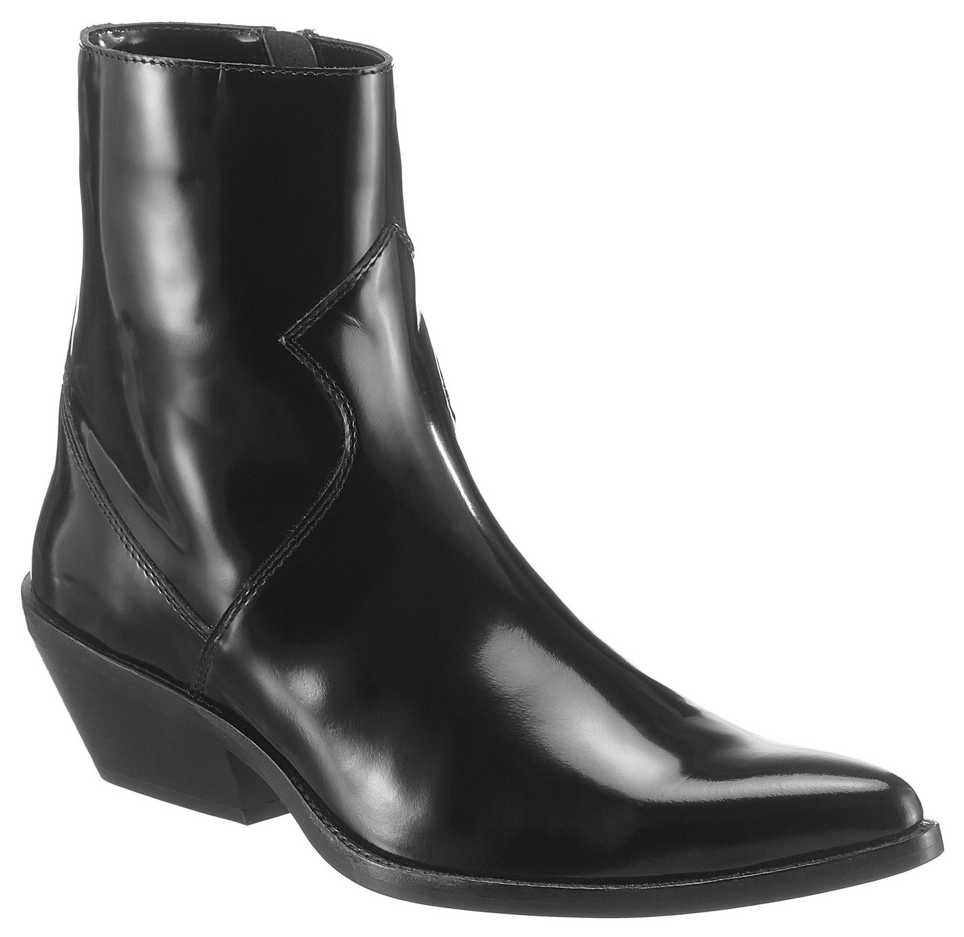 Calvin Klein »Arianna« Westernstiefelette in spitzer Form | Schuhe > Stiefel > Westernstiefel | Schwarz | Calvin Klein