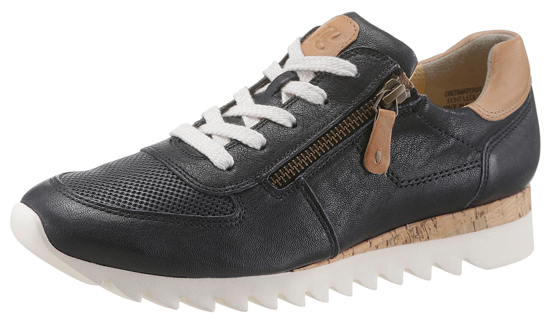 Paul Green Sneaker, mit Außenreißverschluss kaufen  dunkelblau-natur
