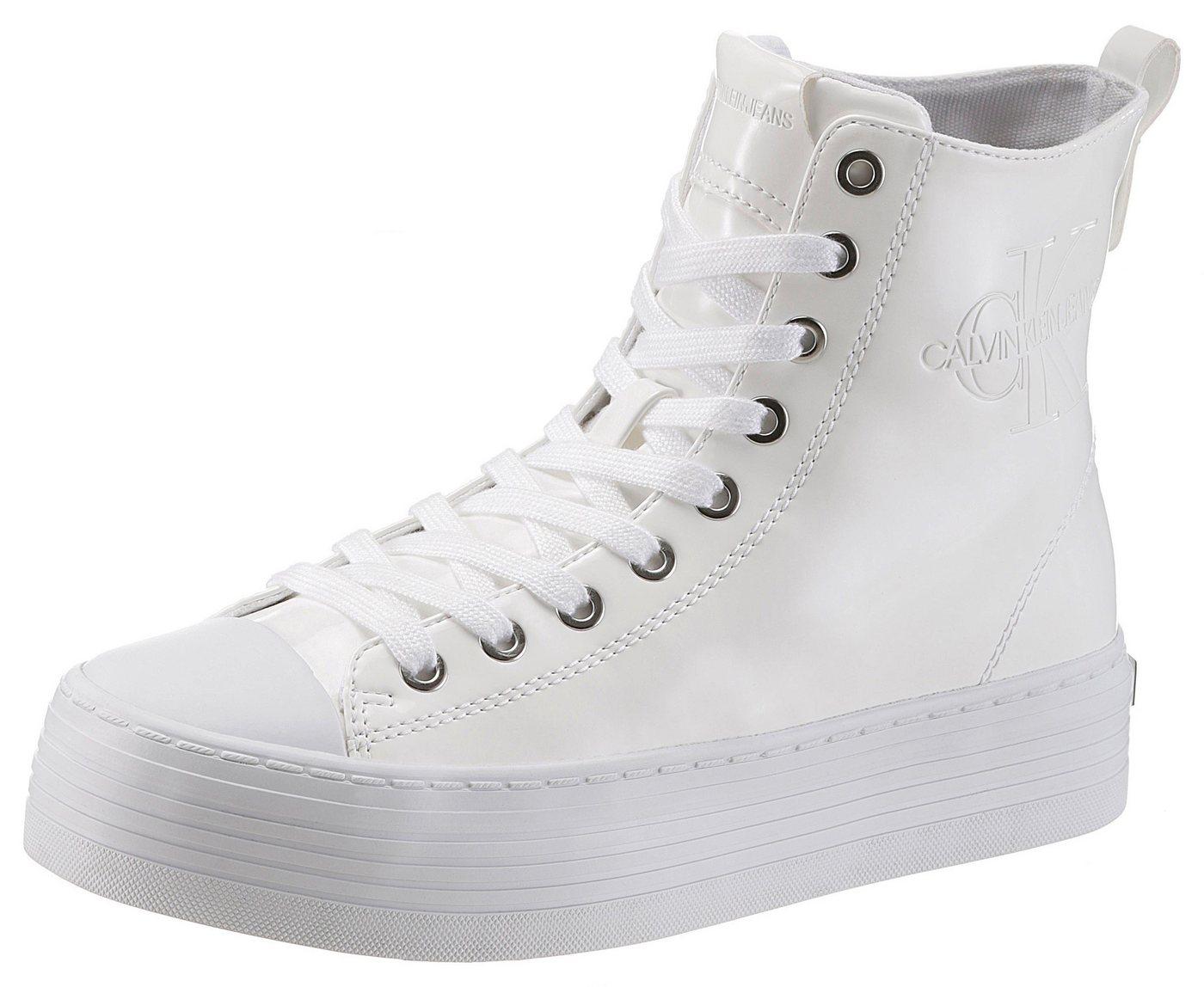 Damen Calvin Klein Zazah Sneaker mit Plateausohle weiß   00889680166295