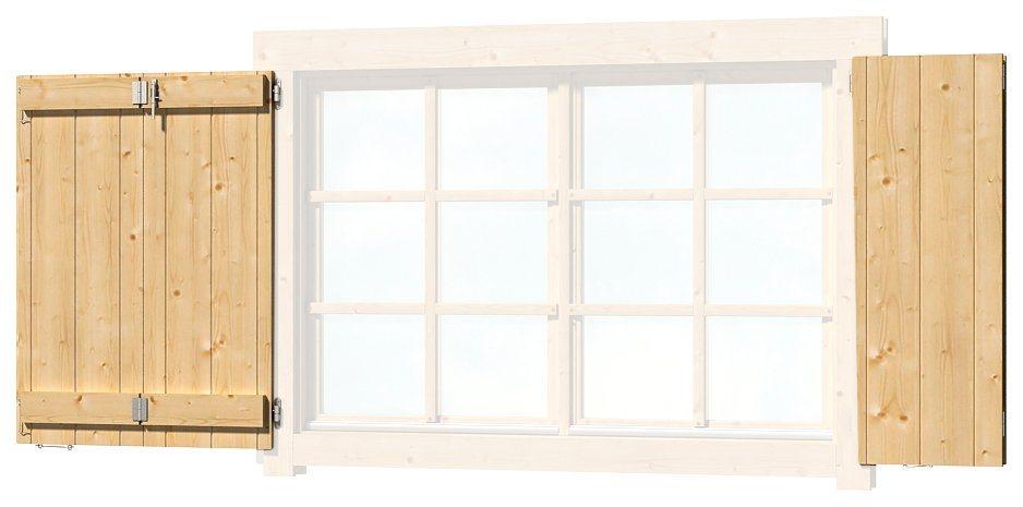 OUTDOOR LIFE PRODUCTS Fensterladen , BxH: 129x88 cm, für Gartenhaus »Colorado« | Garten > Gartenhäuser | Outdoor Life Products