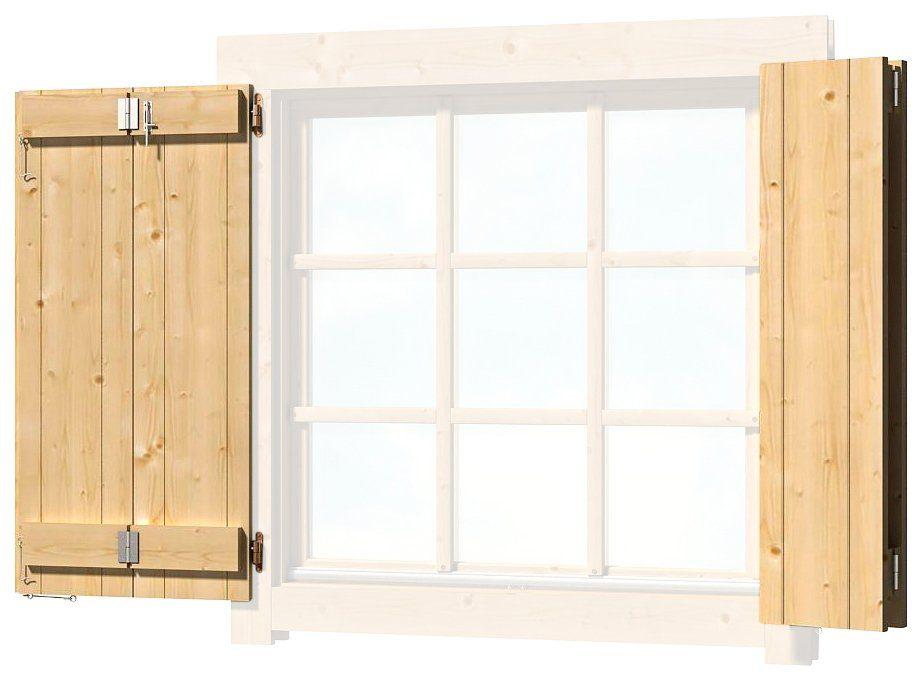 OUTDOOR LIFE PRODUCTS Fensterladen , BxH: 88x88 cm, für Gartenhaus »Colorado«