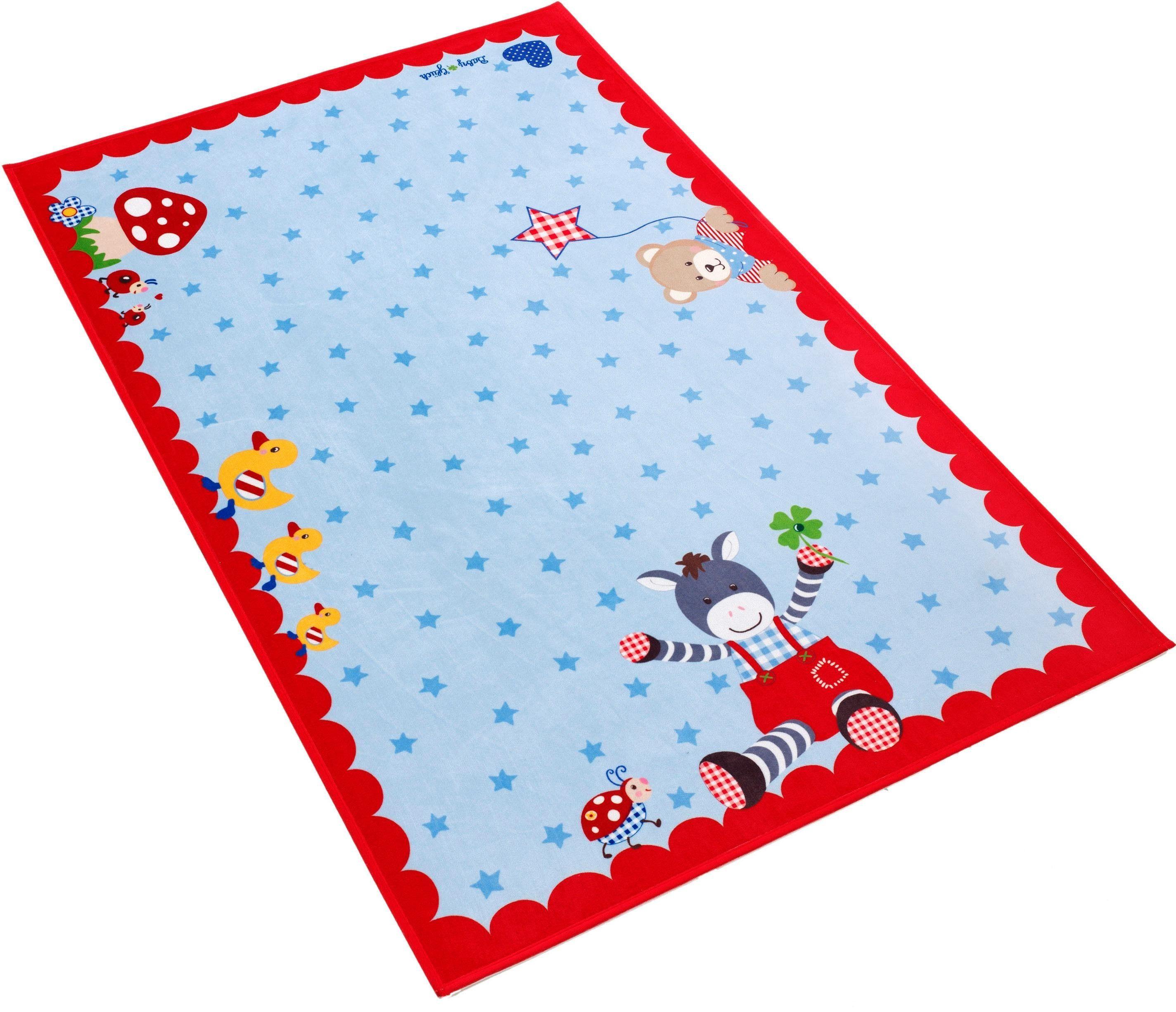 Kinderteppich »Babyglück 715«, Babyglück, rechteckig, Höhe 6 mm, Stoff Druck, weiche Mircofaser
