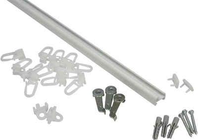 Gardinenschiene »Aluminiumschiene«, GARDINIA, Ø 1,3 mm, 1-läufig, kürzbar, Serie Aluminiumschiene Ø 13 mm