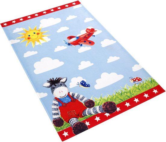 Kinderteppich »Babyglück 710-11«, Babyglück, rechteckig, Höhe 6 mm, Stoff Druck, weiche Mircofaser