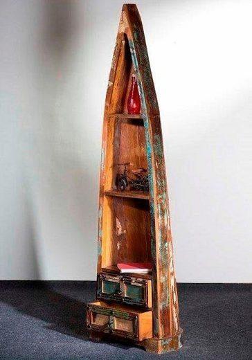 Kasper-Wohndesign Bootsregal Schubladen recyceltes Holz »DILA«