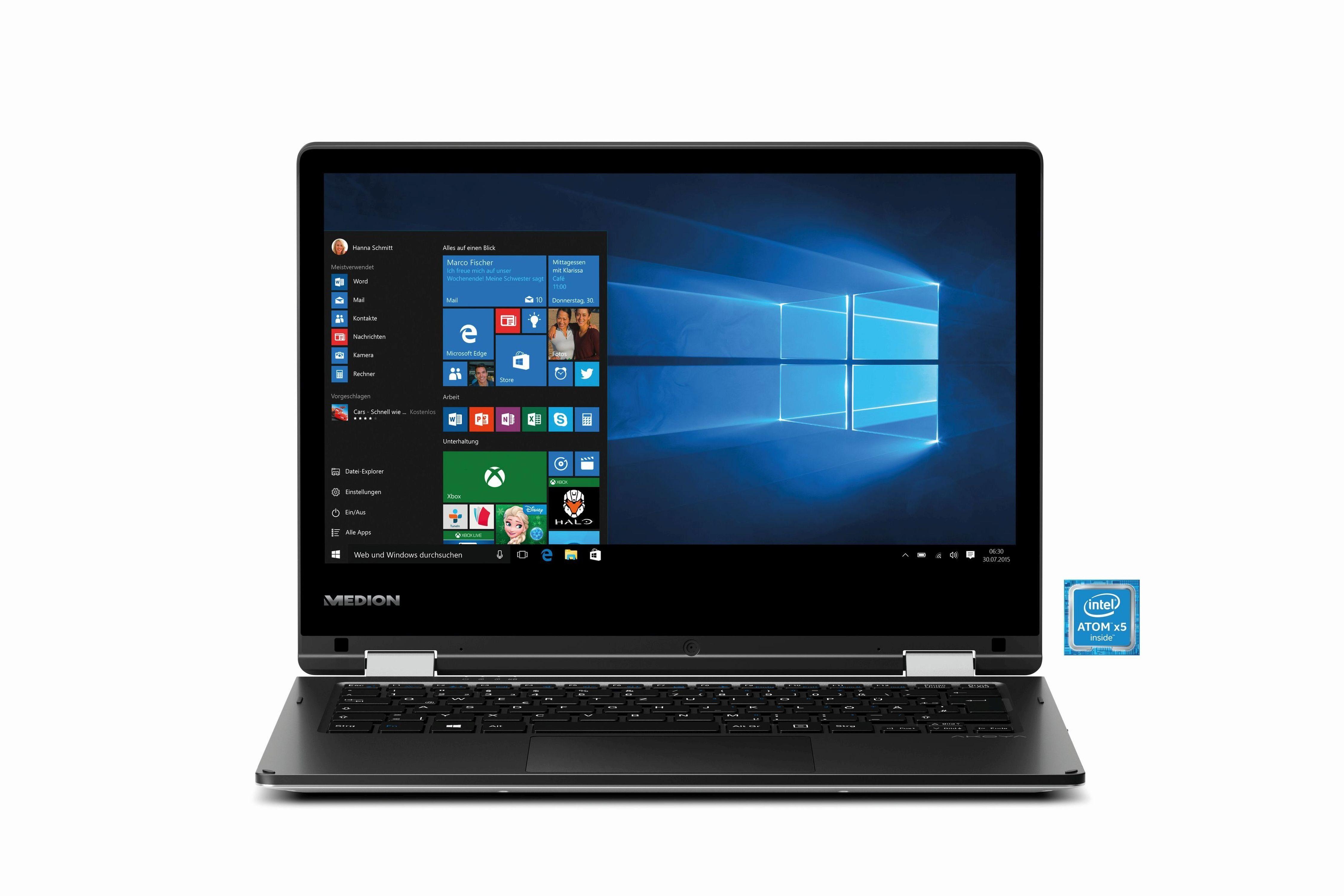 """MEDION® AKOYA® E2221T (MD60624) Notebook »Intel Atom x5, 29,5 cm (11,6"""") 64 GB, 4 GB«"""