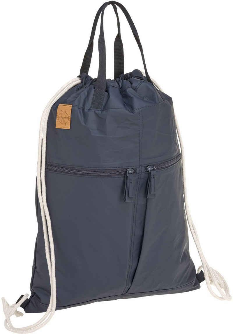 LÄSSIG Kinderwagen-Tasche »Green Label, Tyve String Bag navy«, inkl. Kinderwagenbefestigungen; PETA-approved vegan