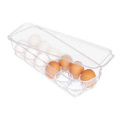 relaxdays Korbeinsatz Kühlschrank Eierbox 12 Eier