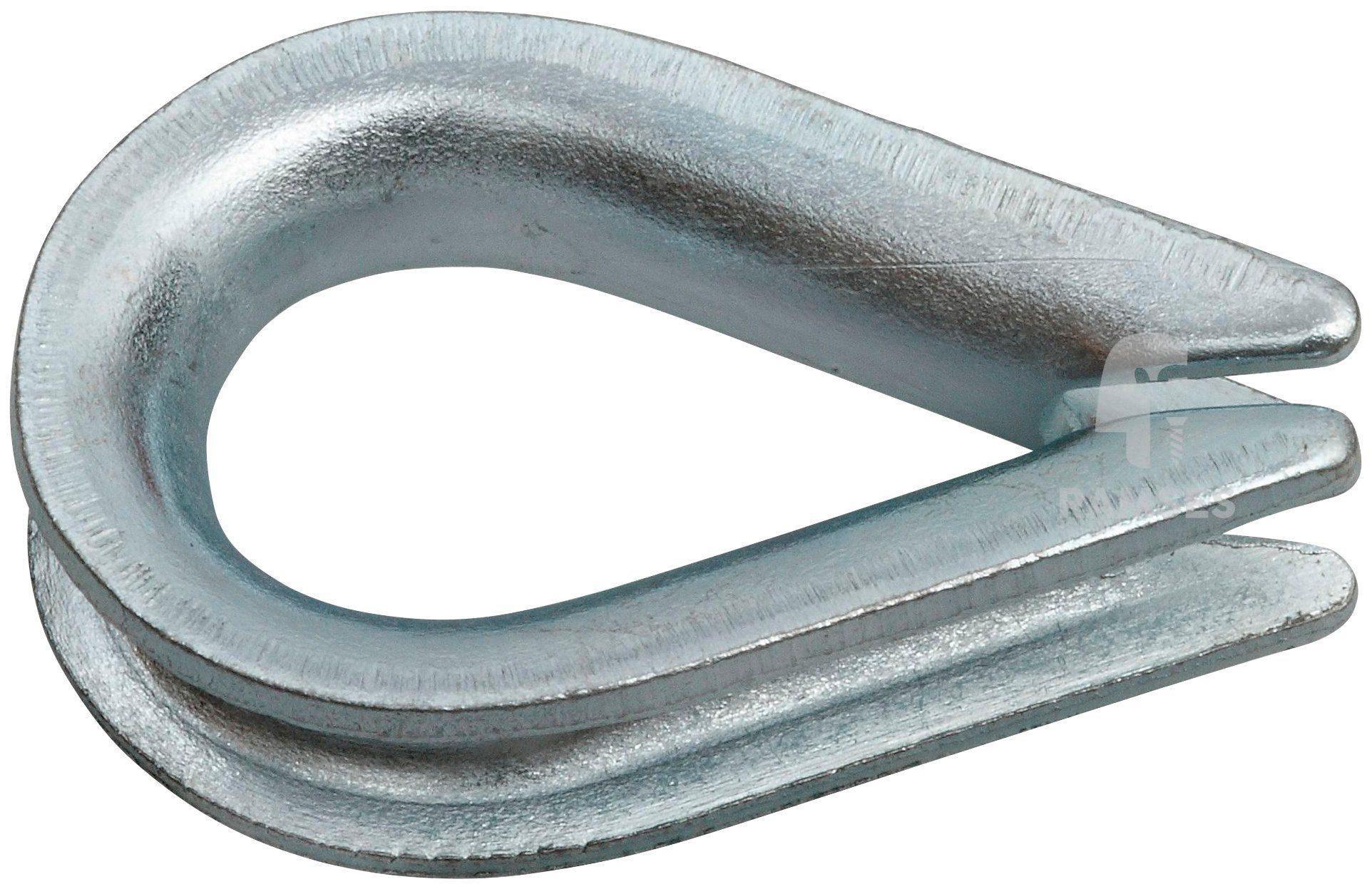 RAMSES Kausche , 2,5 mm Stahl verzinkt 50 Stück
