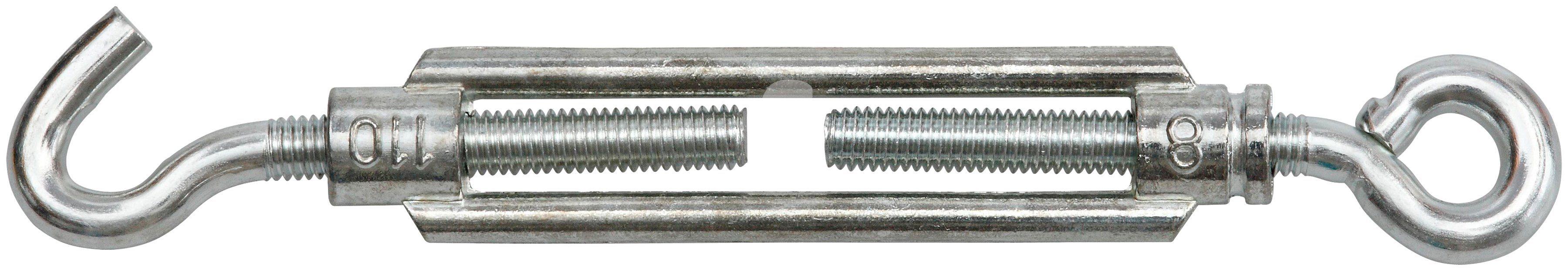 RAMSES Seilspanner , mit Haken und Öse M8 x 70 mm Stahl verzinkt 25 Stück