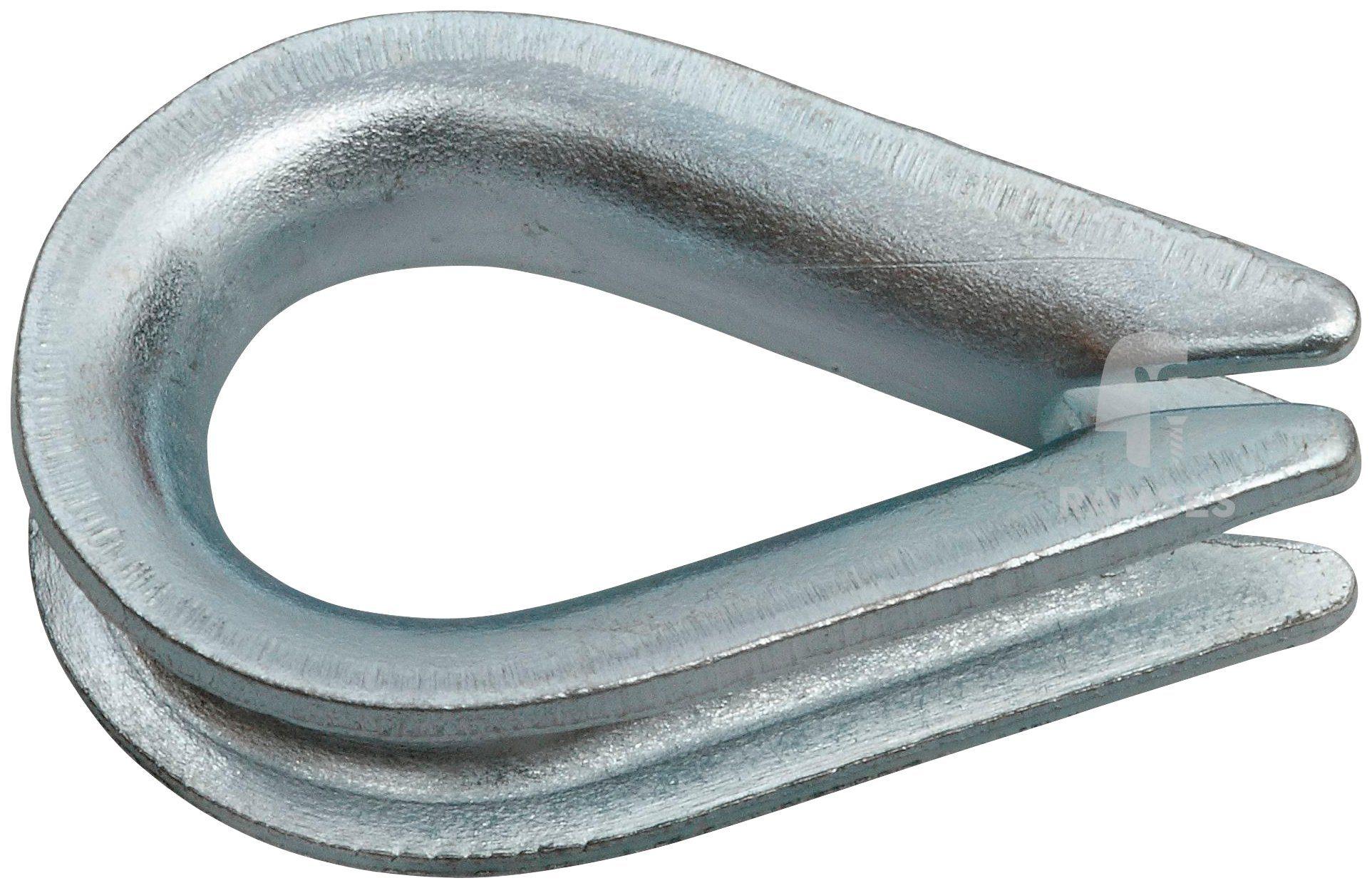 RAMSES Kausche , 3,5 mm Stahl verzinkt 50 Stück
